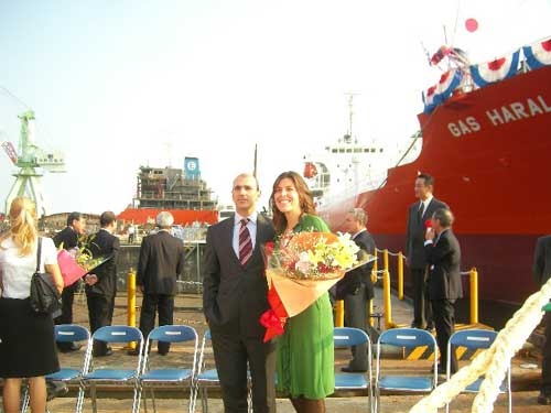 Gas Haralambos Delivery Ceremony